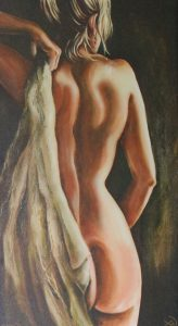 Woman coming out of Spa - picture in Flow Esthetics front room
